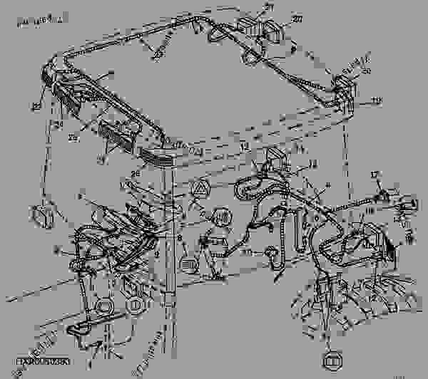 Wiring Harness, CAB, PowrQuad™ (For North America) - TRACTOR ... on
