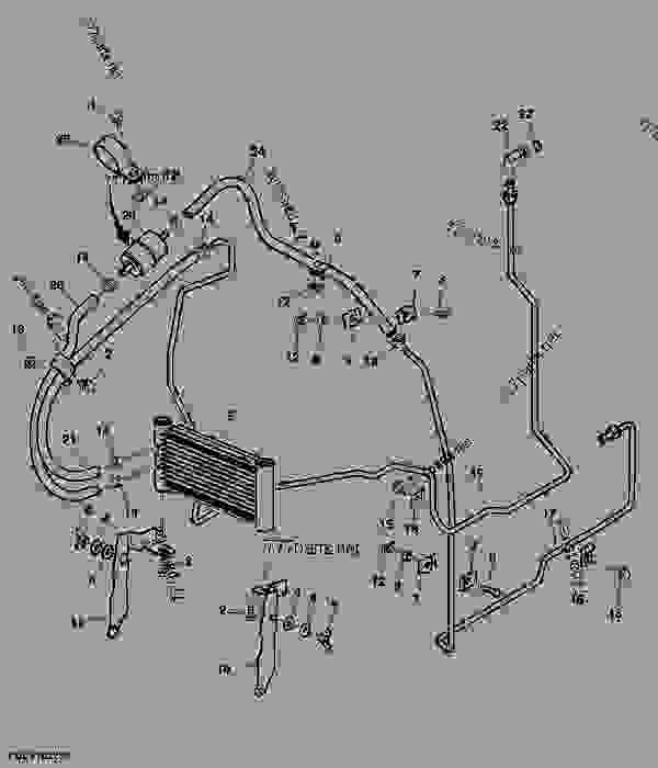 fuel cooler system, cab (340001 ) tractor john deere john deere 5101e electrical diagram john deere 5101 wiring diagrams #1
