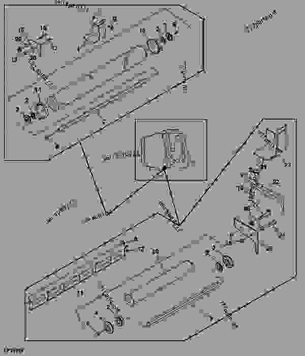 Gate Roll (9) - BALER, ROUND John Deere 468 - BALER, ROUND