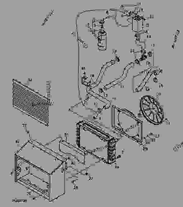 radiator (xxxxxx - ) - progator john deere gator ... john deere 2030 wiring diagram