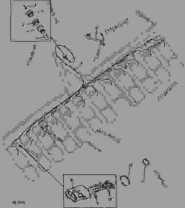 wiring harness - monitor  seed john deere 1700