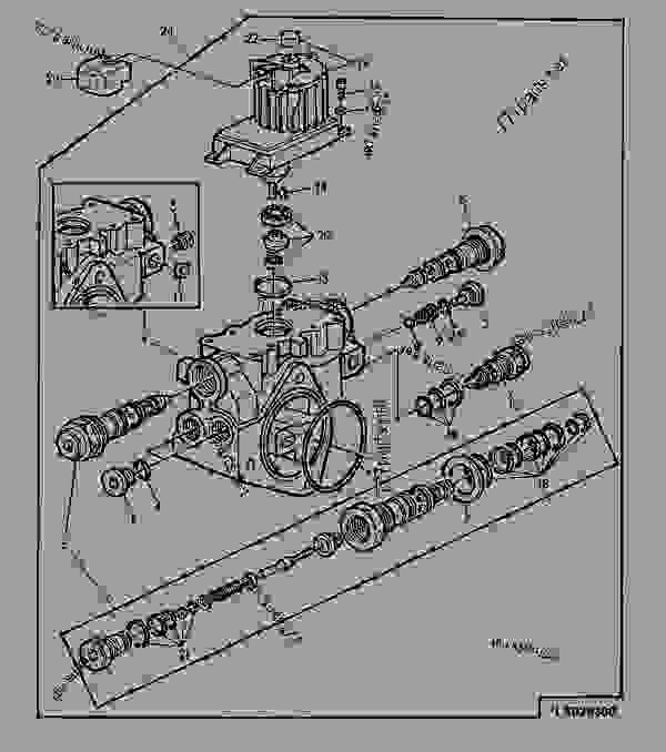 valvula de control del elevador hidraulico con motor de