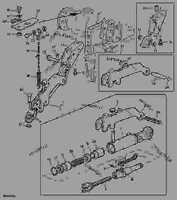 John Deere Stabilizer Bars : Automatic stabilizer bar left hand tractor john deere