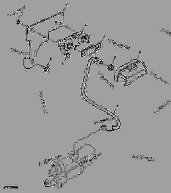 Fuse Link ( - ) - TRACTOR John Deere 5403 - TRACTOR ... John Deere Light Wiring Diagram on