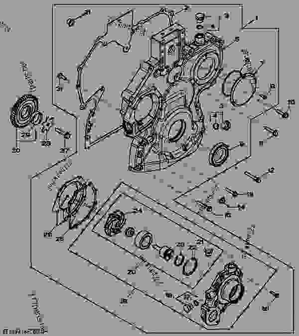 4429  timing gear cover   01e13
