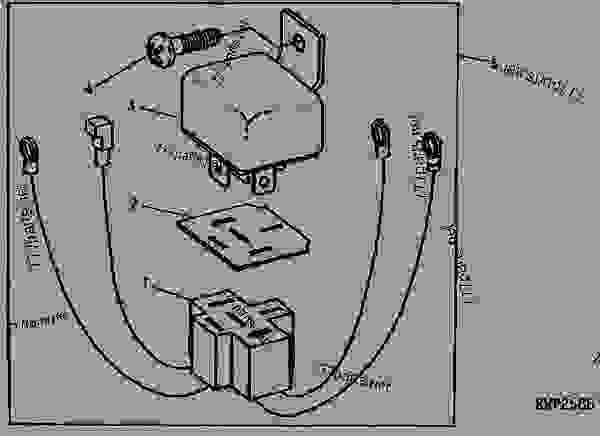 accessory relay wiring kit 01f01  tractor john deere 4620