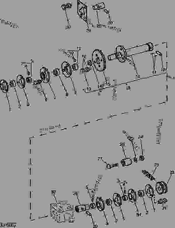 DRIVE SHAFT BEARINGS [B07] - WINDROWER, PLATFORM John Deere
