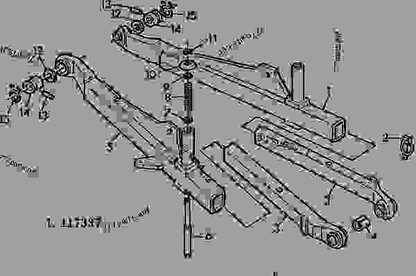 THREE POINT HITCH TELESCOPING DRAFT LINKS [46] - TRACTOR