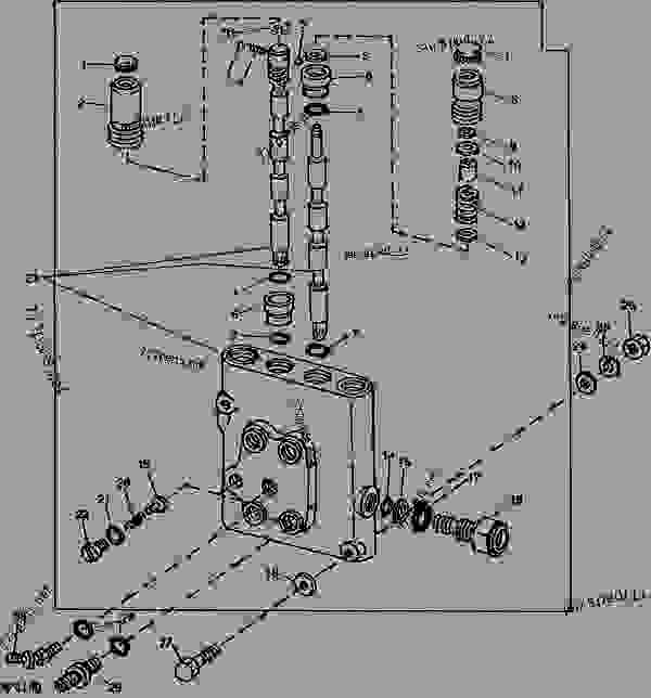 selective control valve housing  cessna 30932 cav   10