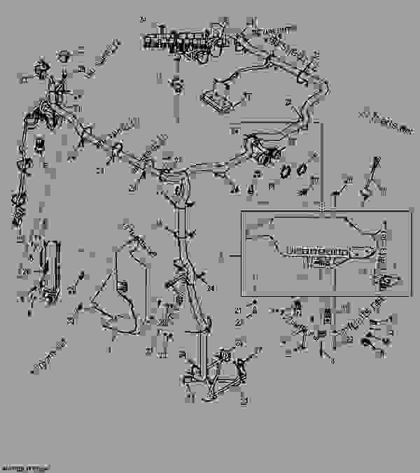 cab wiring harness (manual controls) loader, skid steer john deere John Deere Skid Steer Battery