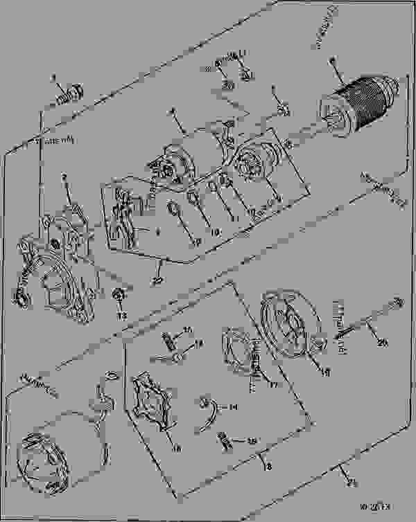 john deere amt 622 engine diagram john deere 750c dozer engine diagram starter demarreur starter motorino d'avviamento motor de ... #5