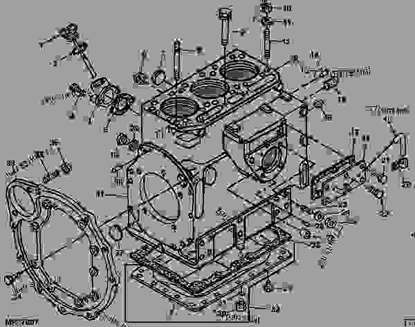 CYLINDER BLOCK PARTS  5      TRACTOR     COMPACT UTILITY    John