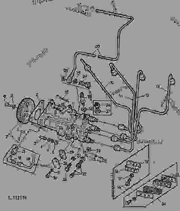 FUEL INJECTION PUMP [01C10] - TRACTOR John Deere 2120 - TRACTOR
