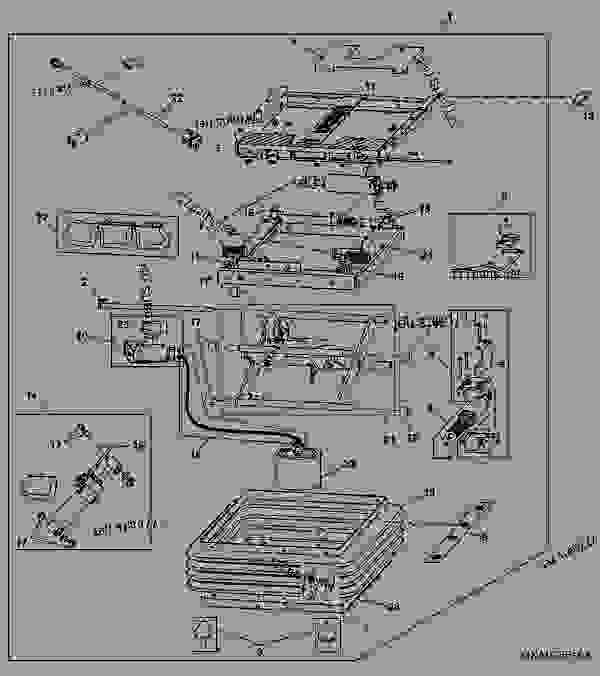 air seat suspension - tractor john deere 9630