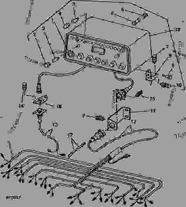 console and wiring harness 12-row   - 1981