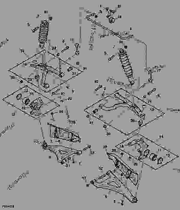 2 FRONT SUSPENSION UPPER BALL JOINT FOR John Deere XUV GATOR 625i 825i GAS