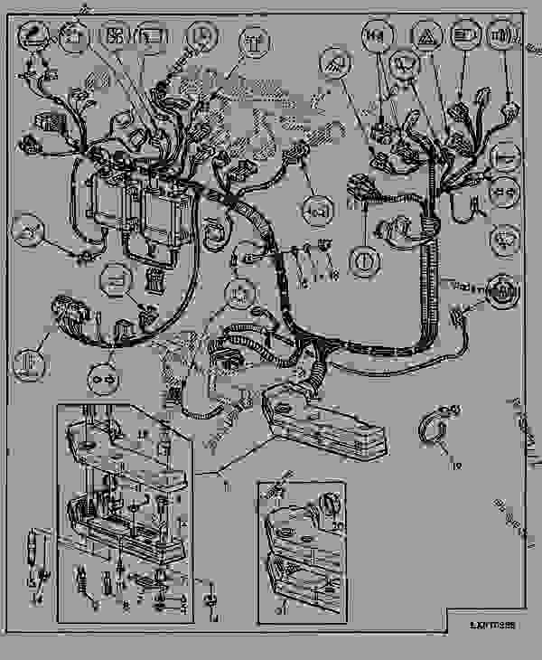 wiring harness instruments (cab) - tractor john deere 6200 ... john deere 7 pin wiring diagram