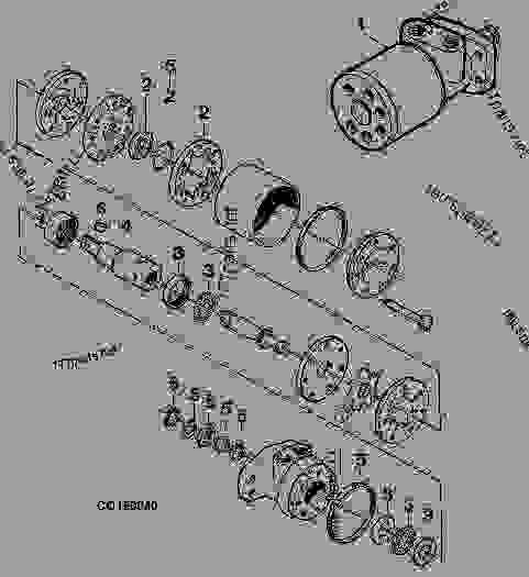 Reel hydraulic motor trw i08 combine platform for Ross hydraulic motor seal kit