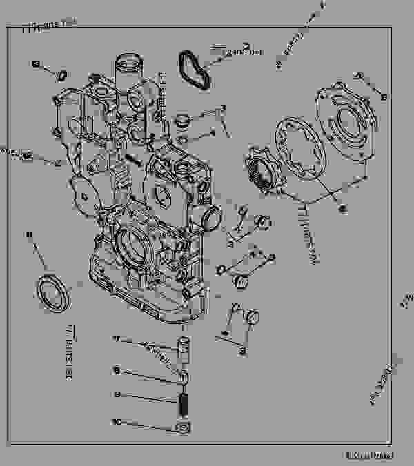 9901 timing gear cover kit loader skid steer john. Black Bedroom Furniture Sets. Home Design Ideas