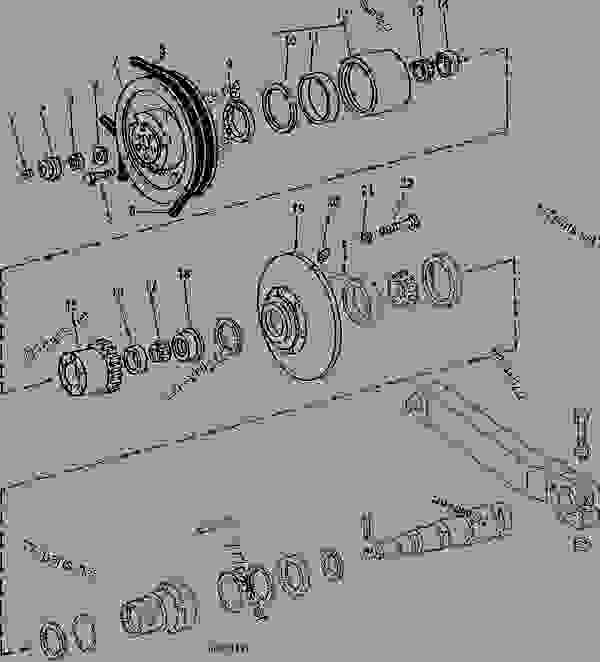 6620 John Deere Combine Wiring Diagram : Propulsion drive countershaft sheave posi torq