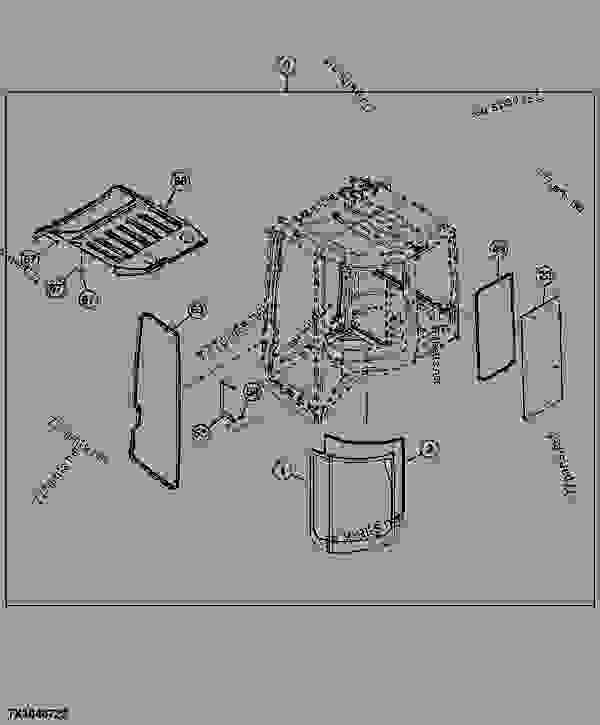 cab components roof side and rear windows sn 237341 excavator john deere 35d excavator. Black Bedroom Furniture Sets. Home Design Ideas