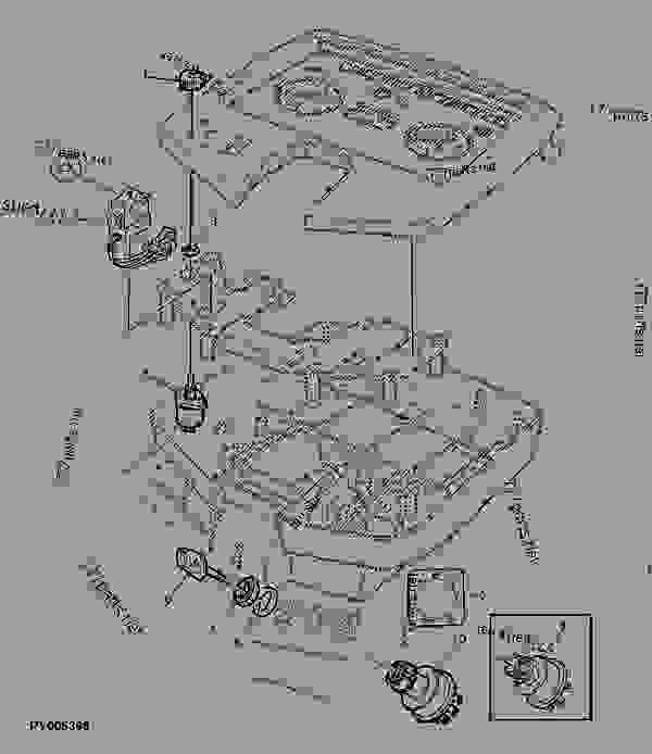 electrical instruments  cab  - tractor john deere 6120 - tractor