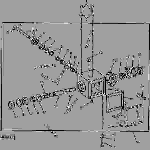 John Deere 60 Parts : Gear case g broom rotary john deere