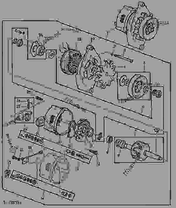 alternator 33a 01d09 tractor john deere 3140. Black Bedroom Furniture Sets. Home Design Ideas