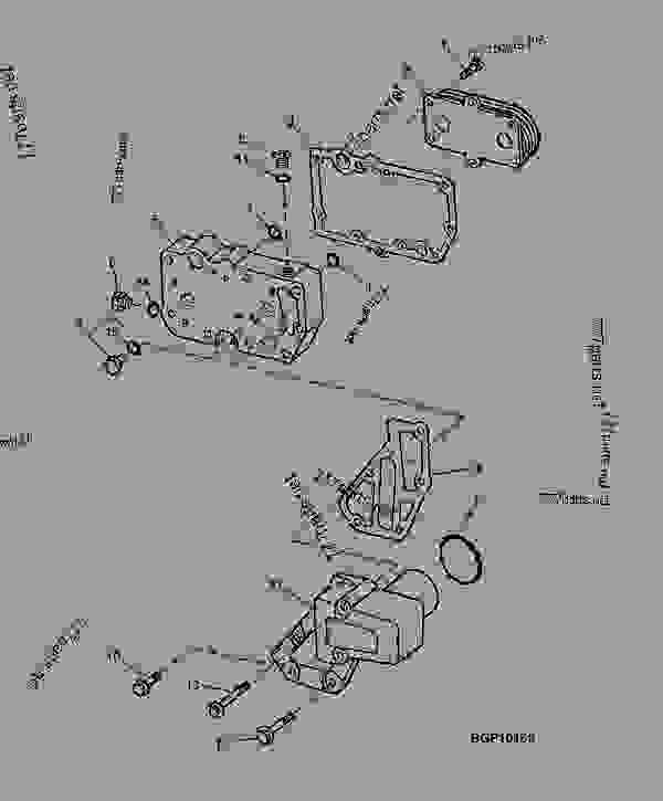 refrigerador del aceite del motor  01a20
