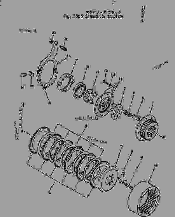 Steering clutch Adjustment D21 Komatsu