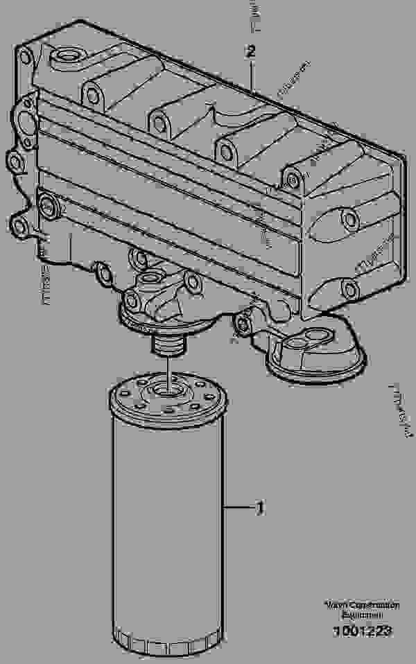oil filter - wheel loaders volvo l120e